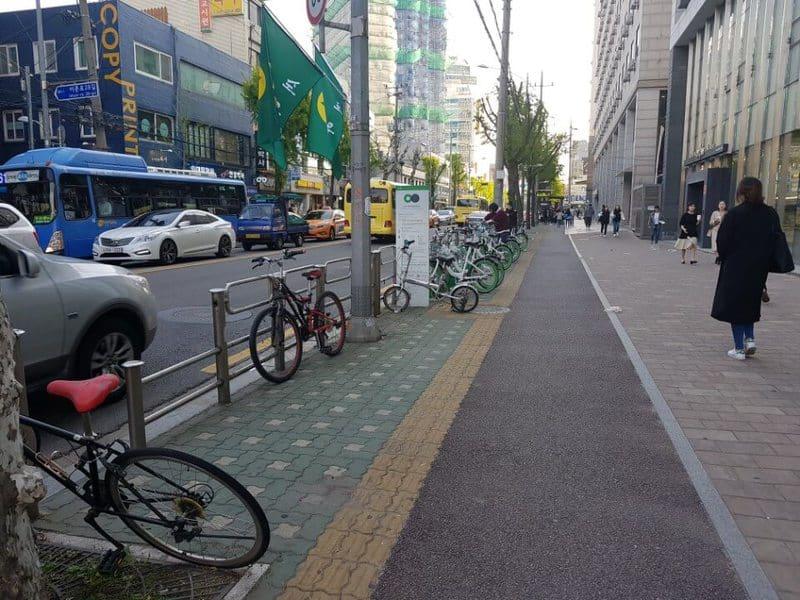 In Seoul kann man Fahrräder ausleihen