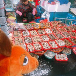 Die Maus auf dem Fischmarkt