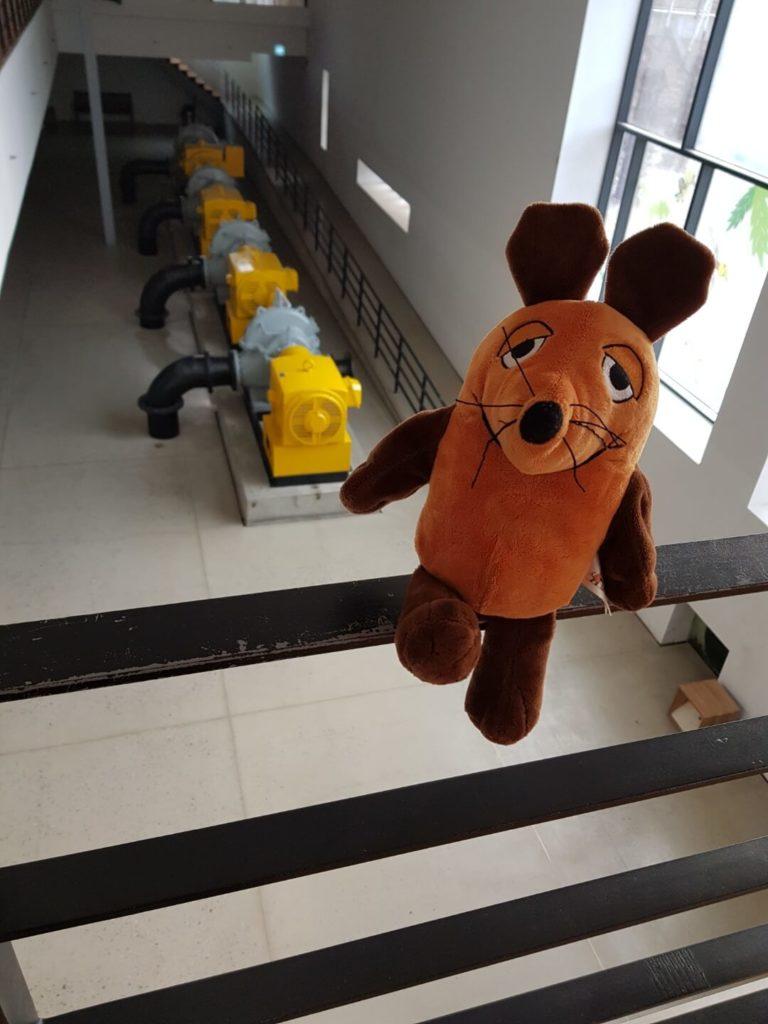 Die Maus im Wasseraufbereitungsanlagen-Museum